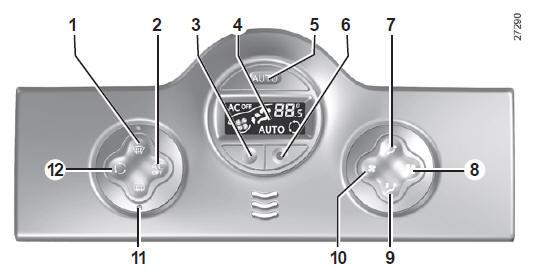 manuel du conducteur renault kangoo air conditionn automatique votre confort. Black Bedroom Furniture Sets. Home Design Ideas