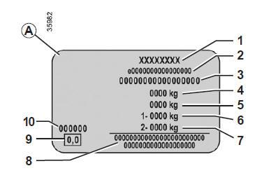 manuel du conducteur renault kangoo plaques d identification v hicule caract ristiques techniques. Black Bedroom Furniture Sets. Home Design Ideas